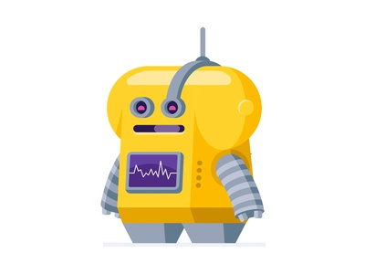 Toolio bot slackbot droid android assistant machine robot illustration