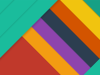 Flat stripes Design with Flat colors