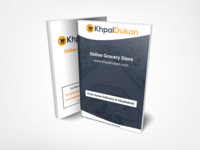 Booklet design for online grocery store