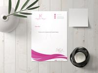 Letter head design for fashion design company