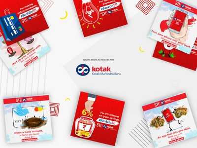 Creative routes for 'Kotak Bank'