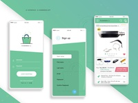 E commerce app 3psd