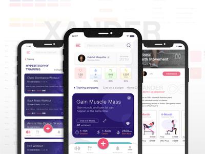 'Xander Fitness' UI App Design