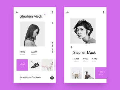 Social page color matching social contact personal center design color ux