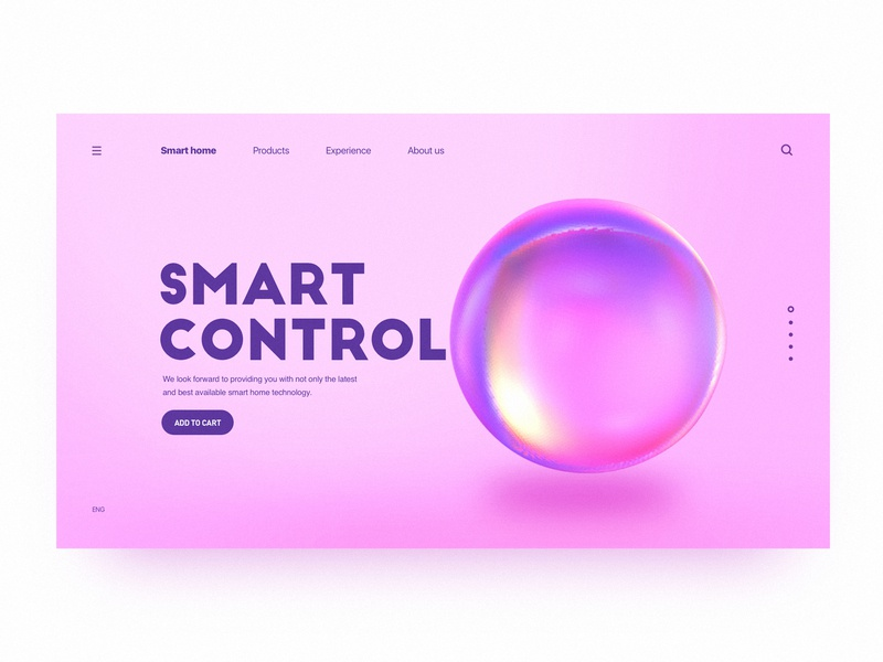 Practice on C4D Web Page c4d brand color web ux design ui