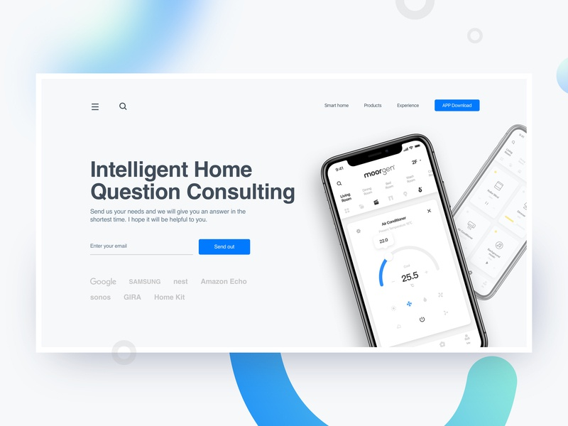 Design of Web Consulting Page color smarthome branding typography web design