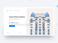 Smart Home History Introduction Page Design