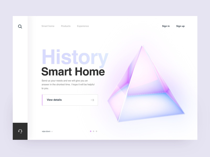 Smart Home History Introduction Page Design 02 ux ui branding design illustration smarthome color brand web c4d 3d