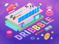 A 2.5d illustration of DRIBBBLE