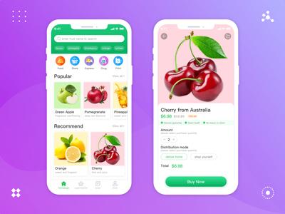 App interface for fruit