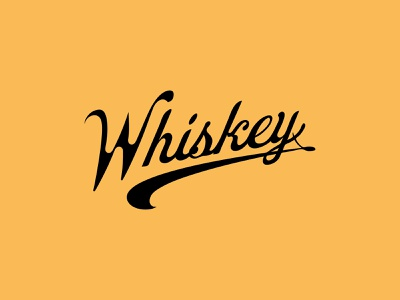 Whiskey script type typeface typography font whiskey vector brand identity restaurant logo identity graphic design beer adobe design branding