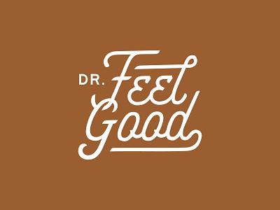 Dr. Feel Good logotype script font beer vector typography brand identity logo graphic design badge design branding adobe