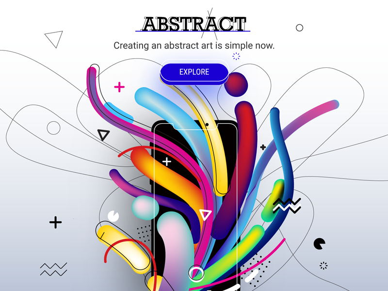 AbstrArt Concept trendy shapes phone concept thoughts art idea app explore lines colors abstract