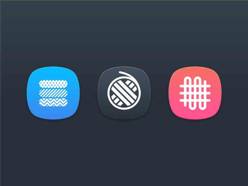 Product Icon exploration product brand modern app icons simple pattern stitch cloths thread