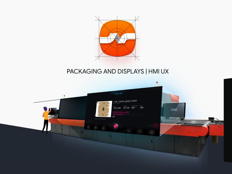 Corrugated Packaging app | UX process ia behance inkjet printer printing press enterprises hmi portfolio userinterface ux process packaging ui printer concept