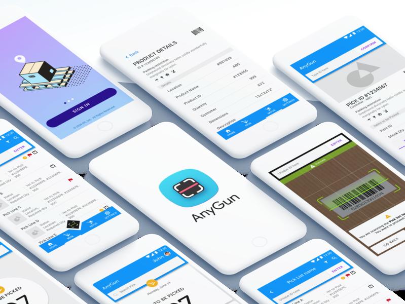 Inventory Management Scanner App visual designing interactions ux process enterprise app scanning user interface design mobile app scanner app product management management app