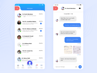 Chat UI of Telemedicine App flat design chat ui message chat consultation telemedicine