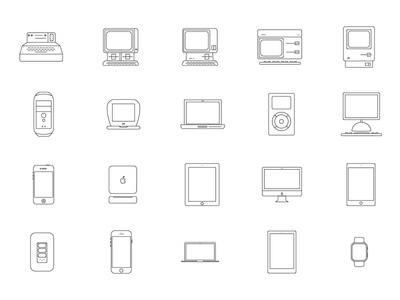 Icons Apple Products apple i ipod pro mini apple watch ipad iphone mac pictos icons products apple