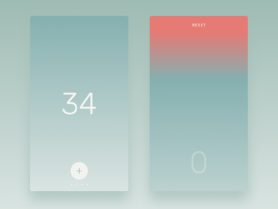 Countr - Simple Counter button plus 34 reset gradient iphone 6 ios app contable counter countr