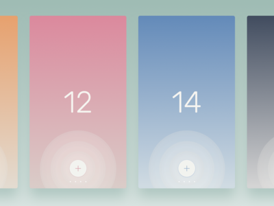 Countr - Different colors button plus 34 reset gradient iphone 6 ios app contable counter countr
