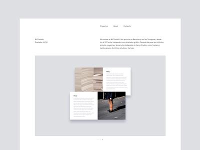 New Portfolio web landing page nil castellví nilcaste nil concept portfolio