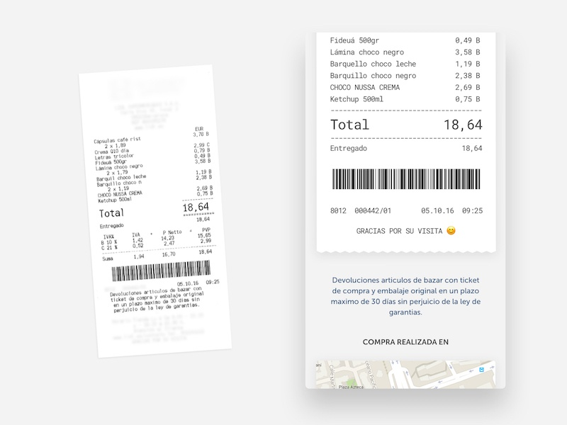 Ticket history supermarket app history ticket