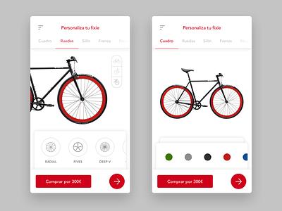 Fixie customization colors red bike personalization customization fixie