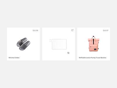 Minimalali minimal shop ecommerce page product website external link