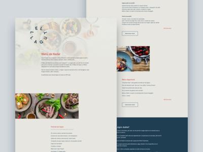 El Llagut - Menú de Nadal restaurant el llagut food landing page web
