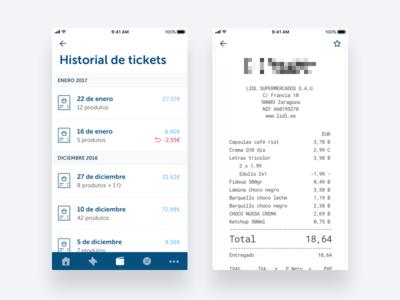 Virtual ticket - Supermarket App supermarket app ios market food iphone super