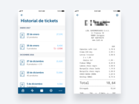 Virtual ticket - Supermarket App