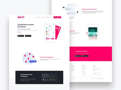 Bnext - Landing page pink web website lading landingpage bnext bank