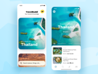 Mobile App - Travel Buddi travel uiux ui design adobe xd ios app