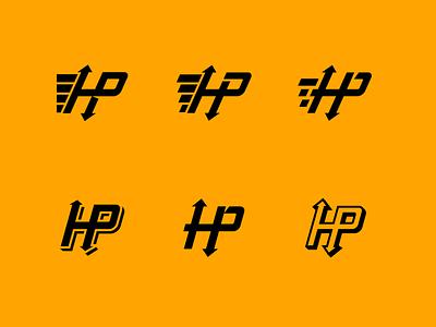 HP Logistics Comps arrows logotype branding logistics shipping