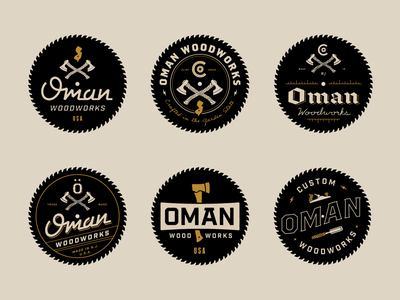 Oman Woodworks tools nj logo saw axe new jersey woodworking badge