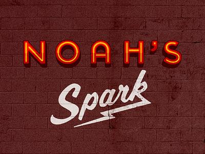 Noah's Spark type brush neon garage