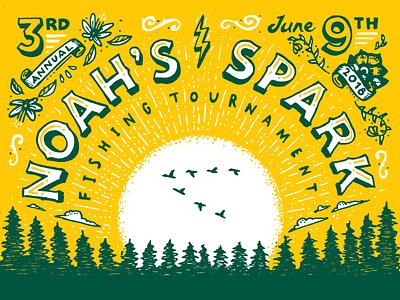 Noah's Spark Fishing Tournament sunrise pines shirt tournament fishing memorial