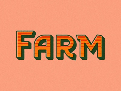 Farm sunset retro logotype