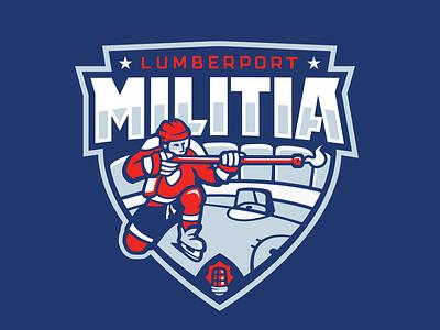 Militia Jersey Crest jersey ice sports logo hockey