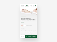 Redesign Lacoste website mobile