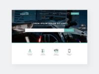UI UX design car website