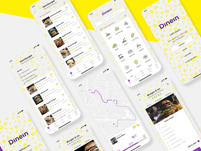 Dinein app map delivery food food app app ux ui design