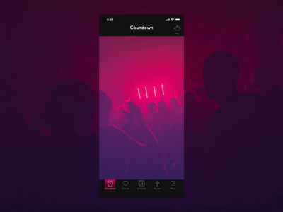 It'sAlive - music festival app microinteraction interaction live music festival animation illustration map gradient ux mobile ui design app