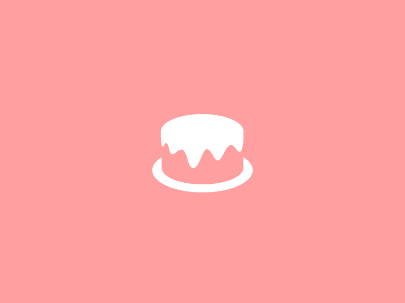 Cake Logo Design logo design logotype company symbol brandmark tasty negative space food logo logotype logodesign minimal clever simple drip curve curvy smooth cake sweet bakery minimal logo design