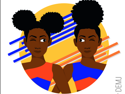 Afro & Color - Twin