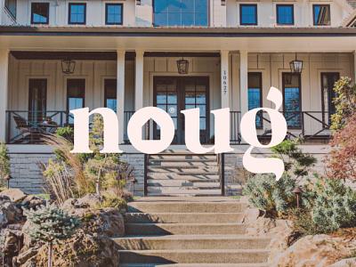 Noug Logo website typography branding ux ui minimal logo illustration icon flat