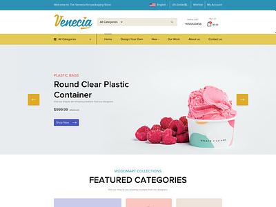 Venecia   Home Page web website ux process landing page design app ux ui minimal logo flat