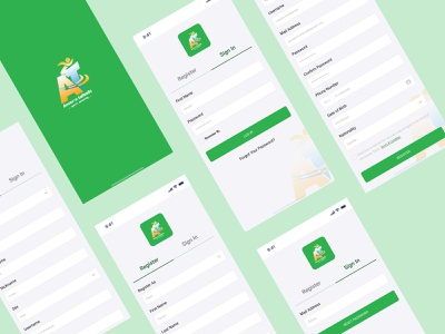 Amazon Talents   Registration Process mobile ux process design app ux ui minimal logo flat