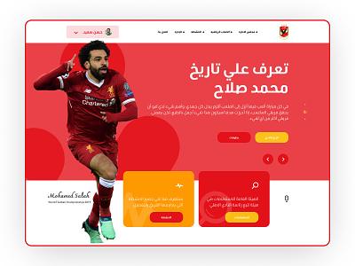 Al-Ahly   ERP System landing page animation ux process design ux ui minimal flat erp