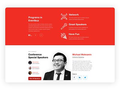 Tedx   Event Speaker typography landing page ux process app logo design ux ui minimal flat